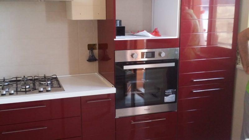 Cucina laccata rossa gruppo mobilturi